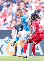 02.08.2017, Allianz Arena, Muenchen, GER, Audi Cup, FC Bayern Muenchen vs SSC Neapel, Spiel um Platz 3, im Bild Marek Hamsik (SSC Napoli), Renato Sanches (FC Bayern Muenchen) // during the Audi Cup 3rd place Match between FC Bayern Munich  and SSC Napoli at the Allianz Arena, Munich, Germany on 2017/08/02. EXPA Pictures © 2017, PhotoCredit: EXPA/ JFK