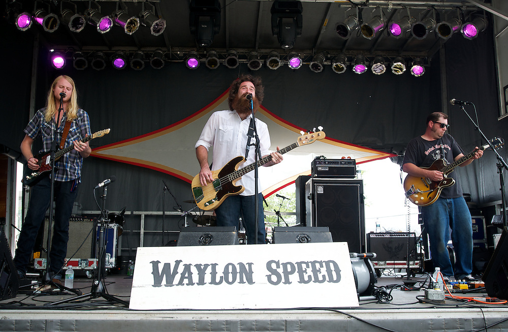 The Band Waylon Speed plays on the Green Vibes stage at the 2011 Gathering of the Vibes on Saturday afternoon July 23, 2011 in Bridgeport, Connecticut.
