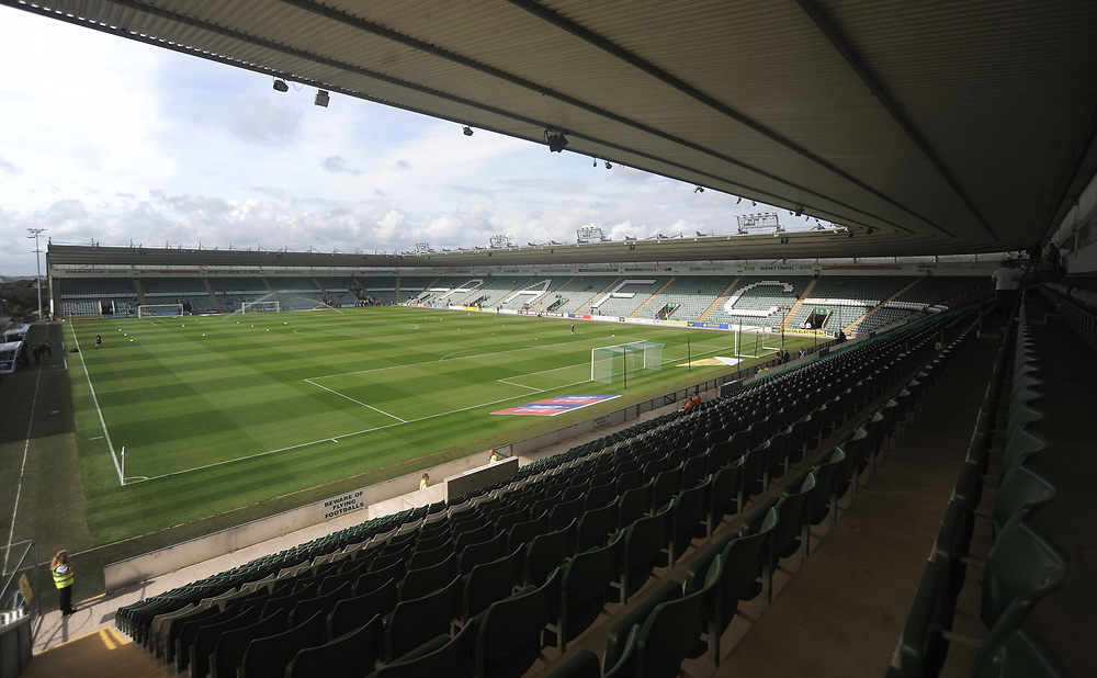 A general view of Home Park, home of Plymouth Argyle FC, Home<br /> <br /> Photographer Kevin Barnes/CameraSport<br /> <br /> The EFL Sky Bet League One - Plymouth Argyle v Blackpool - Saturday 15th September 2018 - Home Park - Plymouth<br /> <br /> World Copyright © 2018 CameraSport. All rights reserved. 43 Linden Ave. Countesthorpe. Leicester. England. LE8 5PG - Tel: +44 (0) 116 277 4147 - admin@camerasport.com - www.camerasport.com