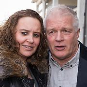 NLD/Amsterdam//20140327 - Perspresentatie Sterren Springen 2014, Peter Jan rens en zwangere partner Virginia van Eck