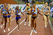 Ajee Wilson (USA) winning the Women's 800m during the IAAF Diamond League event at the King Baudouin Stadium, Brussels, Belgium on 6 September 2019.