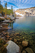 Inspiration Lake in the Enchantment Lakes area of the Alpine Lakes Wilderness, Washington