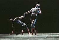 """George Piper Dances.<br /> Oxana Panchenko, Michael Nunn, and William Trevitt in Russell Maliphant's """"Broken Fall"""", originally choreographed on Sylvie Guillem and the Ballet Boyz for the Royal Ballet."""