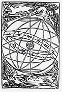 Armillary sphere showing geocentric unigers and the path of the ecliptic. Mie-16th century.