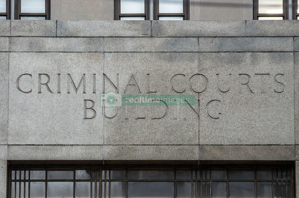 August 7, 2017 - New York City, New York, United States of America - The facade of the Manhattan Criminal Courts at 100 Centre Street. (Credit Image: © Sachelle Babbar via ZUMA Wire)