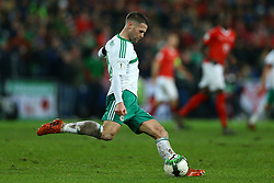 November 12, 2017 - Basel, Switzerland - Oliver Norwood of Northern Ireland  during the FIFA 2018 World Cup Qualifier Play-Off: Second Leg between Switzerland and Northern Ireland at St. Jakob-Park on November 12, 2017 in Basel, Basel-Stadt. (Credit Image: © Matteo Ciambelli/NurPhoto via ZUMA Press)