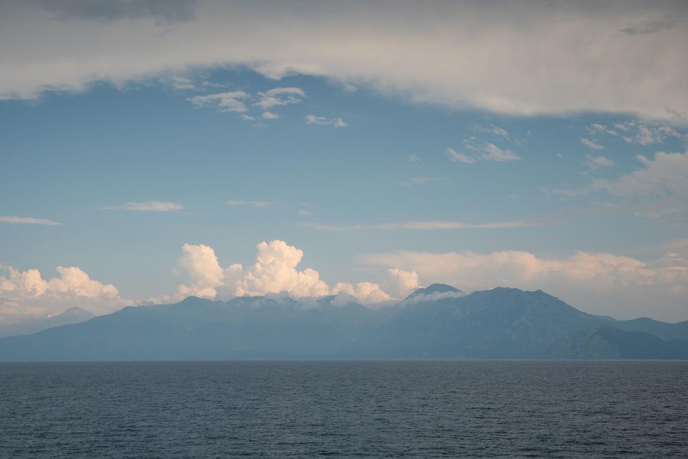 View from Skopelos-Mantoudi Ferry, Aegean Sea, Greece