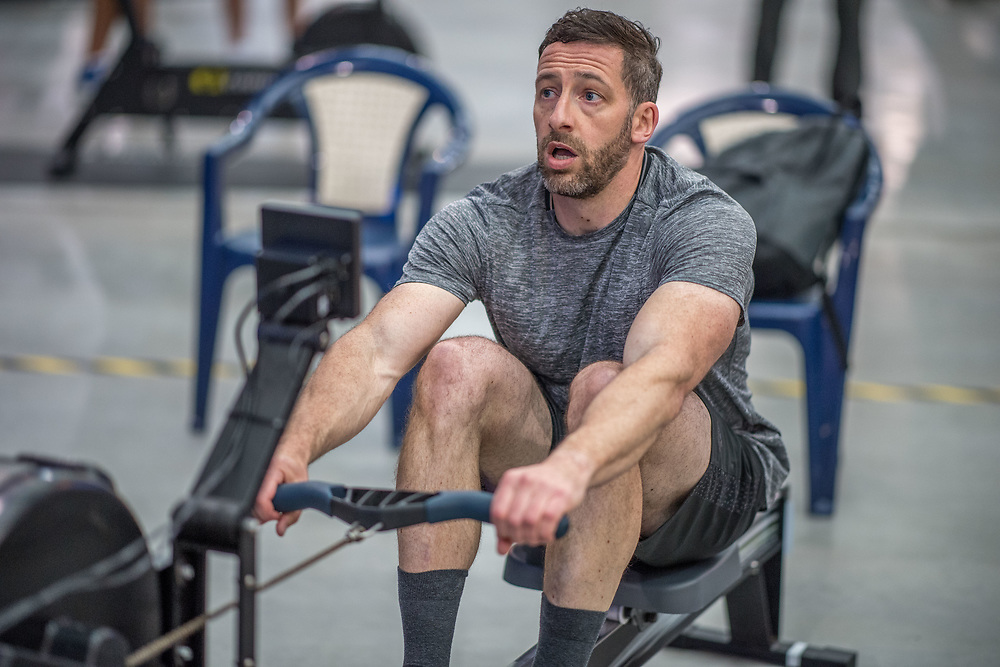 Jase Keen MALE HEAVYWEIGHT U21 2K Race #6  09:45am<br /> <br /> <br /> www.rowingcelebration.com Competing on Concept 2 ergometers at the 2018 NZ Indoor Rowing Championships. Avanti Drome, Cambridge,  Saturday 24 November 2018 © Copyright photo Steve McArthur / @RowingCelebration