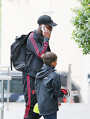 Manchester United players arrive at The Lowry Hotel - 10 Aug 2018