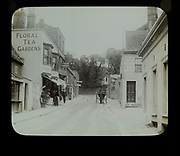 Shops and tea gardens advertised on buildings, Pegwell Bay, Ramsgate, c 1900 the building on the right is now the Belle Cue Tavern
