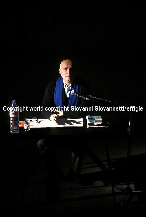Giovanni Testori<br />world copyright Giovanni Giovannetti/effigie / Writer Pictures<br /> <br /> NO ITALY, NO AGENCY SALES / Writer Pictures<br /> <br /> NO ITALY, NO AGENCY SALES