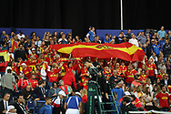 Fans Spain during the 2018 Davis Cup, semi final tennis match between France and Spain on September 14, 2018 at Pierre Mauroy stadium in Lille, France - Photo Laurent Lairys / ProSportsImages / DPPI