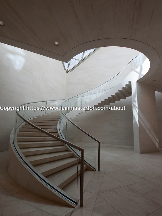 Circular Stairway at the Modern Art Museum MUDAM Musee d'Art Moderne Grand Duc Jean  Luxembourg