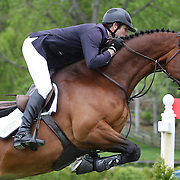 NORTH SALEM, NEW YORK - May 15: Beat Mandli, Switzerland, riding Zander, in action during The $50,000 Old Salem Farm Grand Prix presented by The Kincade Group at the Old Salem Farm Spring Horse Show on May 15, 2016 in North Salem. (Photo by Tim Clayton/Corbis via Getty Images)