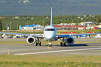 A head-on view of the Air Canada Embraer 190