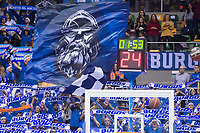San Pablo Burgos supporters during Liga Endesa match between San Pablo Burgos and Gipuzkoa Basket at Coliseum Burgos in Burgos, Spain. December 30, 2017. (ALTERPHOTOS/Borja B.Hojas)