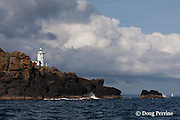 Tater Du Lighthouse, between Mousehole and Porthcurno, Cornwall, Great Britain, United Kingdom