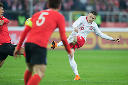 March 27, 2018 - Chorzow, Poland - Piotr Zielinski of Poland   during the international friendly soccer match between Poland and South Korea national football teams, at the Silesian Stadium in Chorzow, Poland on 27 March 2018. (Credit Image: © Foto Olimpik/NurPhoto via ZUMA Press)