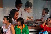 Bus stop, near Central World, Bangkok