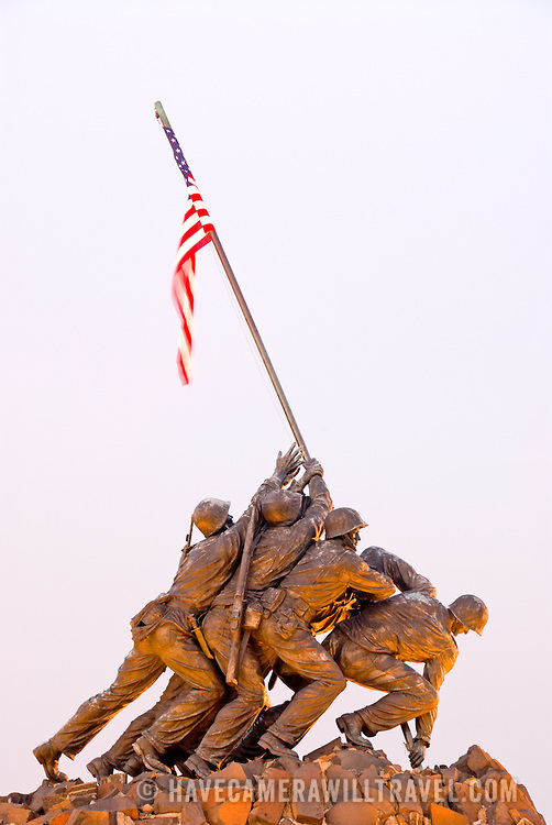 US Marine Corps Memorial, Arlington, Virginia. Also known as the Iwo Jima Memroial Editorial use only.