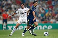 seizoen 2010 / 2011 15-09-2010 champions leaque real madrid - ajax arbeloa en mounir el hamdaoui