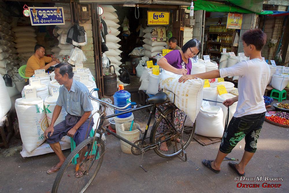 Selling Rice, Gyee Zai Market