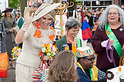 Koningsdag 2019 in Amersfoort / Kingsday 2019 in Amersfoort.<br /> <br /> Op de foto: Koningin Maxima en Prinses Alexia   ///  Queen Maxima and Prinses Alexia