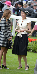 Left to right, PRINCESS BEATRICE OF YORK and LADY HELEN TAYLOR at Day 1 of the 2013 Royal Ascot Racing Festival at Ascot Racecourse, Ascot, Berkshire on 18th June 2013.