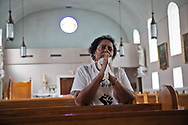 """Sharon Lavigne, the founder of RISE St. James, in St. James Catholic Church, told me: """"Black people are being polluted the most in the 4th and 5th District in St James Parish, so of course we are hit the most by the pandemic. We are already hit by the pollution in the air. The pandemic adds to what we are already going through."""""""