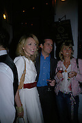 Lillian Chandler, Richard Lund and Sophie de Roeper, Lady Elizabeth Anson and Rupert Lund host the launch of The Rupert Lund Showroom. Chelsea Manor st. London. 2 May 2007.  -DO NOT ARCHIVE-© Copyright Photograph by Dafydd Jones. 248 Clapham Rd. London SW9 0PZ. Tel 0207 820 0771. www.dafjones.com.