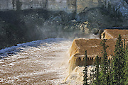 Hay River at Louise Falls<br /> Twin Falls Gorge Territorial Park<br /> Northwest Territories<br /> Canada
