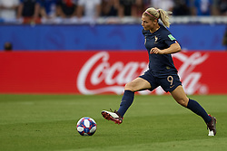 June 28, 2019 - Paris, France - Eugenie Le Sommer (Olympique Lyon) of France in action during the 2019 FIFA Women's World Cup France Quarter Final match between France and USA at Parc des Princes on June 28, 2019 in Paris, France. (Credit Image: © Jose Breton/NurPhoto via ZUMA Press)
