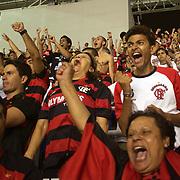 Flamengo fans celebrate their sides goal during the Flamengo V  Botafogo, Futebol Brasileirao  League match at Estadio Olímpico Joao Havelange, Rio de Janeiro, The classic Rio derby match ended in a 1-1 draw. Rio de Janeiro,  Brazil. 2nd October 2010. Photo Tim Clayton
