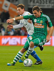 15.10.2011, Gerhard Hanappi Stadion, Wien, AUT, 1. FBL, SK Rapid Wien vs SC Wiener Neustadt, im Bild Daniel Wolf, (SC Magna Wiener Neustadt, #21) und Harald Pichler, (SK Rapid Wien, #27) // during the Austrian Bundesliga Match SK Rapid Wien versus SC Wiener Neustadt, Gerhard Hanappi Stadion, Vienna, 2011-10-15, EXPA Pictures © 2011, PhotoCredit: EXPA/ M. Gruber
