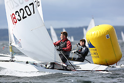 Day 4 NeilPryde Laser National Championships 2014 held at Largs Sailing Club, Scotland from the 10th-17th August.<br /> <br /> 183207, Zac BIKHAZI<br /> <br /> Image Credit Marc Turner
