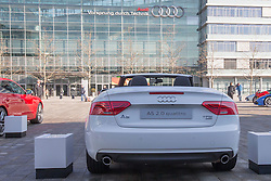 10.03.2015, Audi Forum, Ingolstadt, GER, AUDI AG Jahrespressekonferenz, im Bild Ausstellung Audi auf der Audi Piazza vor Audi-Museum A5 2.0 quattro // during AUDI AG Annual Press Conference at the Audi Forum in Ingolstadt, Germany on 2015/03/10. EXPA Pictures © 2015, PhotoCredit: EXPA/ Eibner-Pressefoto/ Strisch<br /> <br /> *****ATTENTION - OUT of GER*****