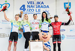 Second placed KUMP Marko (SLO)  of Slovenian National Team, Winner FORTIN Filippo (ITA)  of Tirol Cycling Team  and Third placed MUGERLI Matej (SLO)  of BMC Amplatz celebrate during trophy ceremony after the UCI Class 1.2 professional race 4th Grand Prix Izola, on February 26, 2017 in Izola / Isola, Slovenia. Photo by Vid Ponikvar / Sportida