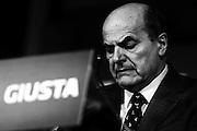 Il candidato del Partito Democratico alla Presidenza del Consiglio Pier Luigi Bersani in conferenza stampa dopo i risultati delle elezioni politiche. Roma - 26 febbraio 2013. Matteo Ciambelli / Oneshot