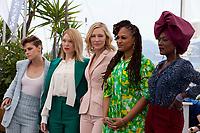 Jury members Kristen Stewart, Léa Seydoux, Jury President Cate Blanchett, Ava DuVernay, Khadja Nin at the Jury photo call at the 71st Cannes Film Festival Tuesday 8th May 2018, Cannes, France. Photo credit: Doreen Kennedy