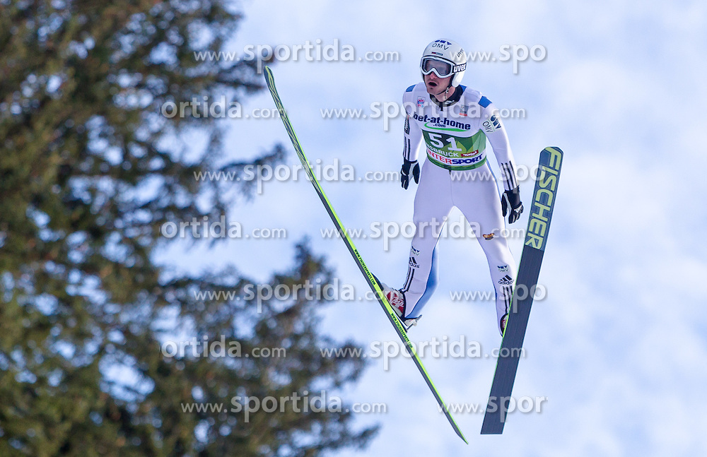 03.01.2014, Bergisel Schanze, Innsbruck, AUT, FIS Ski Sprung Weltcup, 62. Vierschanzentournee, Qualifikation, im Bild Jakub Janda (CZE) // Jakub Janda (CZE) during qualification Jump of 62nd Four Hills Tournament of FIS Ski Jumping World Cup at the Bergisel Schanze, <br /> Innsbruck, Austria on 2014/01/03. EXPA Pictures © 2014, PhotoCredit: EXPA/ JFK