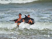 SANYA, CHINA - MAY 21: (CHINA OUT) <br /> <br /> Injured Dolphin Rescued In Sanya<br /> <br /> An Injured dolphin is rescued at Haitang Bay on May 21, 2013 in Sanya, Hainan Province of China. The Injured dolphin have been sent to Hainan Aquatic Wildlife Rescue Center. <br /> ©ChinaFoto/Exclusivepix