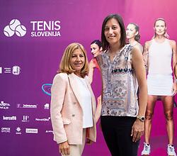 PORTOROZ, SLOVENIA - SEPTEMBER 19:    Mima Jausovec and Katarina Srebotnik during the WTA 250 Zavarovalnica Sava Portoroz at SRC Marina, on September 19, 2021 in Portoroz / Portorose, Slovenia. Photo by Vid Ponikvar / Sportida