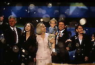 The Clintons accept the nomination for the Democratic presidential candidate in July 1992...Photograph by Dennis Brack bb24