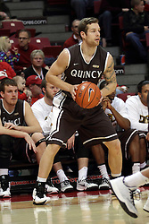 29 December 2014:  Scottie Bruxvoort during an NCAA non-conference interdivisional exhibition game between the Quincy University Hawks and the Illinois State University Redbirds at Redbird Arena in Normal Illinois.