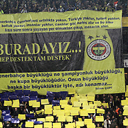 Fenerbahce's supporters during their Turkish superleague soccer derby match Fenerbahce between Trabzonspor at the Sukru Saracaoglu stadium in Istanbul Turkey on Sunday 18 December 2011. Photo by TURKPIX