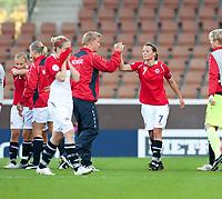 Fotball<br /> EM kvinner 2009<br /> Norge v Frankrike 1-1<br /> 30.08.2009<br /> Foto: Jussi Eskola, Digitalsport<br /> NORWAY ONLY<br /> <br /> Trine Rønning