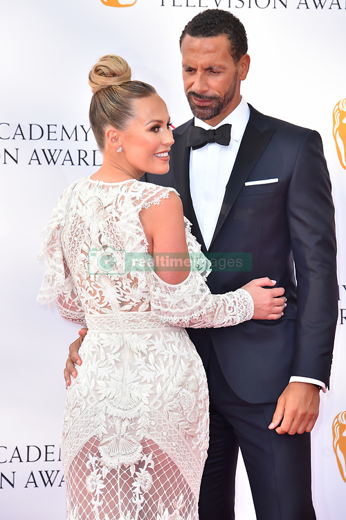 Kate Wright and Rio Ferdinand attending the Virgin TV British Academy Television Awards 2018 held at the Royal Festival Hall, Southbank Centre, London.