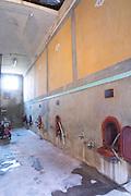 Chateau Mire l'Etang. La Clape. Languedoc. Concrete fermentation and storage vats. France. Europe.