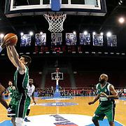 Anadolu Efes's Dontaye Draper (3ndL) during their Turkish Basketball League match Anadolu Efes between Darussafaka at Abdi Ipekci Arena in Istanbul Turkey on Wednesday 24 December 2014. Photo by Aykut AKICI/TURKPIX