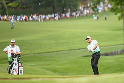 May 5, 2018 - Charlotte, NC, U.S. - CHARLOTTE, NC - MAY 05: Graeme McDowell chips to the green during the 3rd round of the Wells Fargo Championship on May 05, 2018 at Quail Hollow Club in Charlotte, NC. (Photo by William Howard/Icon Sportswire) (Credit Image: © William Howard/Icon SMI via ZUMA Press)
